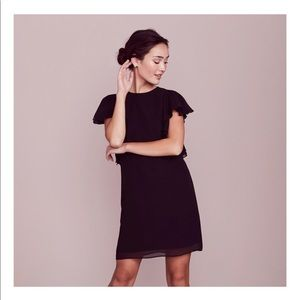 LC Lauren Conrad Shift Dress w/ Ruffle Sleeves